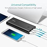 Anker PowerCore+ 26800, Premium Portable Charger, High Capacity 26800mAh External Battery with Qualcomm Quick Charge 3.0… 14 The Anker Advantage: Join the 50 million+ powered by America's leading USB charging brand. Qualcomm Quick Charge 3.0: Using Qualcomm's advanced Quick Charge 3.0 technology, PowerCore+ allows compatible devices to charge 85% faster. Recharges itself 2X as fast with the included wall charger. Fast-Charging Technology: Exclusive to Anker, PowerIQ and VoltageBoost technologies combine to provide universal full speed charging for non-Quick Charge devices, up to 3 amps per port.
