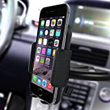 Car Mount,Kainnt CD Slot Smartphone Car Mount holder Car Cradle for iPhone7 7Plus 6 6Plus 6s 6s plus 5S 5C SE 4S Samsung Galaxy S3 S4 S5 S6 and All 3.5-5.8inch Phone Device, GPS Device