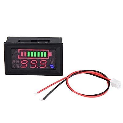 6-80V Voltage Meter Voltmeter with LCD Digital Screen Voltmeter Voltage Volt Gauge Panel Meter for Car Motorcycle: Industrial & Scientific