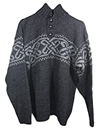 Aran Woollen Mills Traditional Celtic Men Worsted Wool Sweater