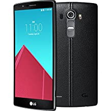 LG G4 H812, 5.5-inch LCD, 32GB, 3GB RAM, 16MP Camera, Unlocked LTE Smartphone Black Leather + Titanium Cover - Android™ 6.0 Marshmallow