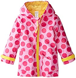 i play. Baby Midweight Raincoat, Pink Dots, 18-24 Months