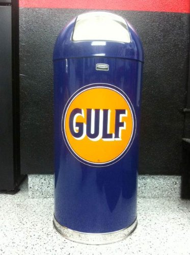 Retro Style Bullet Trash Can - Gulf