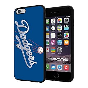 MLB Los Angeles Dodgers Apple Smartphone iPhone 6 Plus 5.5 inch Case Cover Collector TPU Soft Black Hard Cases by runtopwell
