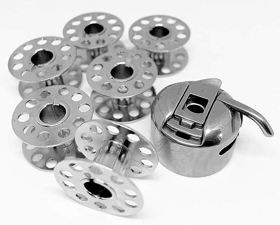 Nähmaschinenzubehör24 CB Bobina Cápsula + 6 bobinas de Metal para ...