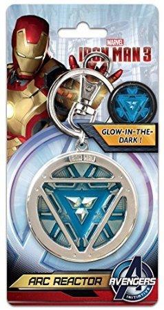 Marvel Comics Iron Man 3 - Arc Reactor (Glow in The Dark) Pewter Key Ring (with Gift Box) (Iron Man Glow Arc Reactor)