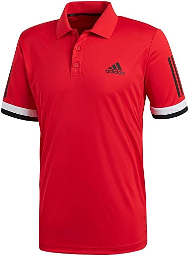 adidas Club - Polo de Tenis para Hombre (3 Rayas) - Rojo - Small ...