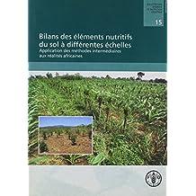 Bilans Des Elements Nutritifs Du Sol A Differentes Echelles: Application Des Methodes Intermediaires Aux Realites Africaines