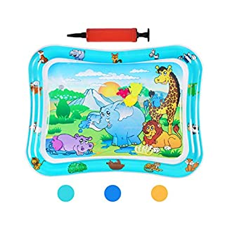 HABOM Upgrade Tummy Time Baby Water Mat Infant Slapped Toys Inflatable Play mat for 3 6 9 Months Toddlers Newborn