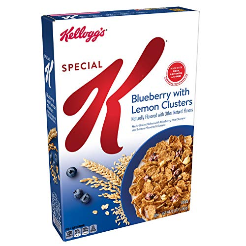 (Special K Breakfast Cereal, Blueberry with Lemon Clusters, Low Fat, 12.8oz Box)