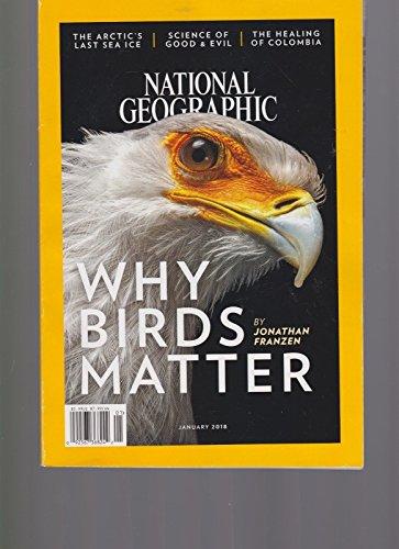 NATIONAL GEOGRAPHIC MAGAZINE JAN 2018, WHY BIRDS - Flat Rates Usps International