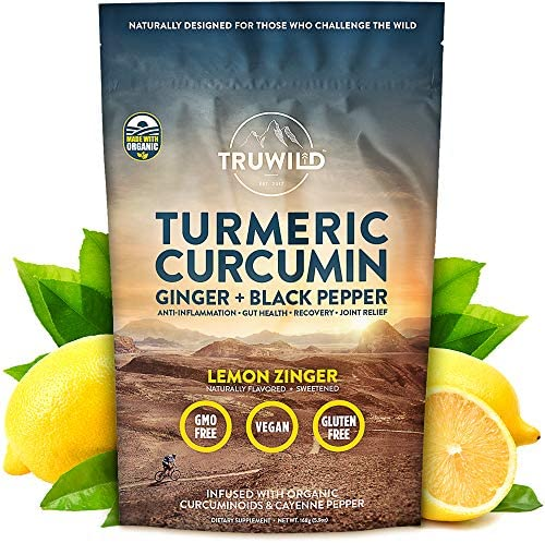 Turmeric Curcumin Drink Mix Powder Organic Curcuminoid Black Pepper, Ginger, Cayenne Pepper, Lemon, Himalayan Salt – Natural Anti-Inflammatory Immune Support – Restore PH Balance Joint Health