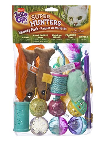 (Hartz Just For Cats Super Hunters Toy Variety Pack)