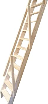 Paddle Loft - Juego de escaleras de madera para ahorrar espacio (escalera baja, 2835 mm de altura): Amazon.es: Bricolaje y herramientas