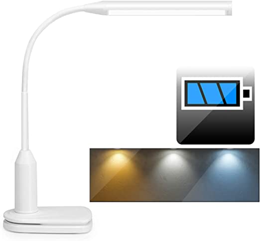 LED Clip On//Stand Flexible Desk Lamp Dimmable Memory Bed Read Table Study Light