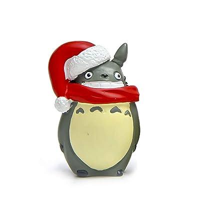 1 UNID Miniatura Totoro Ornamento Micro Paisaje Diseño Juguete Navidad Totoro Figura Hada Jardín Terrario Suministros (Hombre Totoro): Bebé
