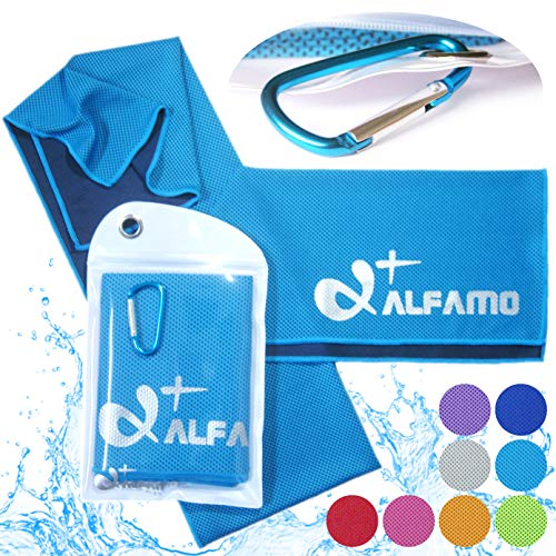 Aqua Blue Cooling Towel for Instant Relief - 33