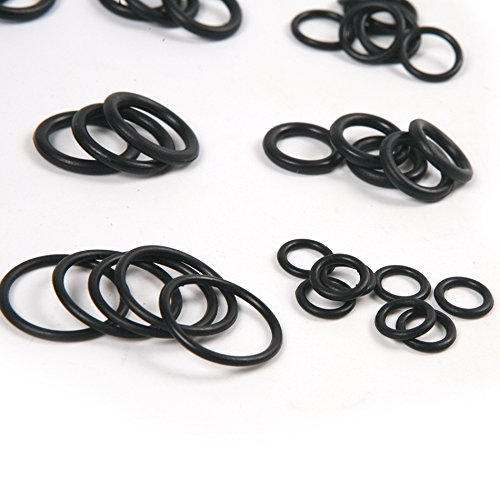 Universal Black Silicone Rubber 50Pcs O Ring Washer Seals Watertightness Assortment Car Metric O-Ring by Isguin (Image #2)