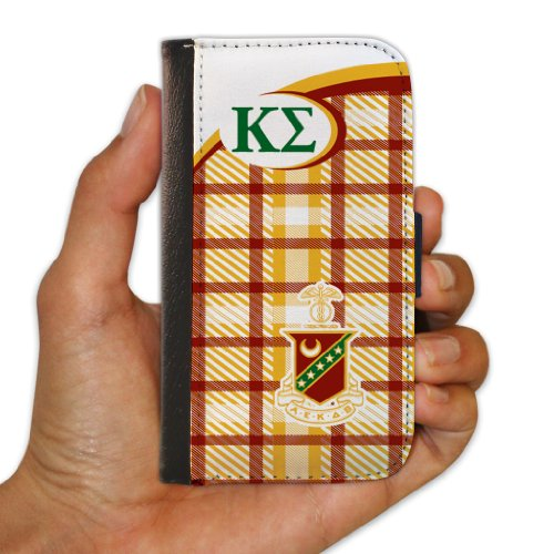 Kappa Sigma iPhone 6 Protective Wallet Case - Plaid Design