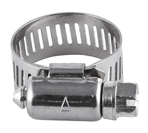 American Valve 10-Pack Worm Gear Hose Clamp, 7/16'' to 29/32'' (SAE size 8), CL8PK10, Stainless Steel Band & Housing by American Valve