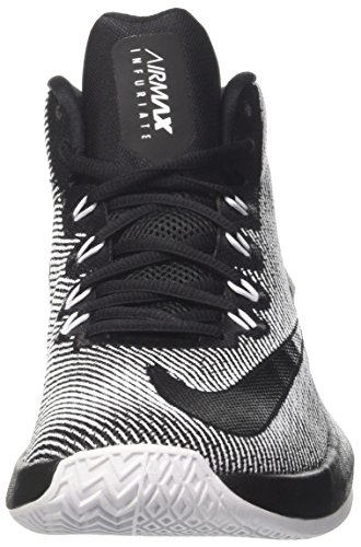 's Shoes Max Basketball Mid Men Black Infuriate Black NIKE Black White Air 5xq0w71F