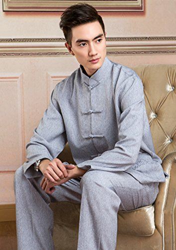 Cotton-flax Tang Suits (Jackte+Pants) Retro Jackets Coats Business Jackets Full Dress by Double-sided Wear Tang Suit