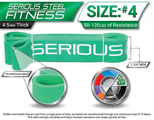 Serious Steel Fitness Assisted Pull-up | Crossfit Resistance Band, Stretch Package#2, 3, 4 Band Set (10-120 lbs) FREE Pull-up and Band Starter e-Guide by Serious Steel Fitness (Image #4)