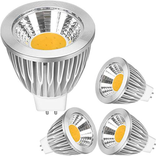 GU5.3 LED Bulb Warm White 7W Replacement 50W Halogen Bulbs, 560 Lumens 3000K,LED GU5.3 Bulb Warm White Light Bulbs MR16 AC/DC 12V Not Dimmable/4 Pack