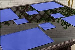 Gardenista comedor para exteriores resistente al agua vajilla Posavasos, 6unidades), color azul