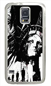 Samsung Galaxy S5 Case Cover - Statue Of Liberty Illustration Hard Case Cover Compatible with Samsung Galaxy S5 - Polycarbonate -White