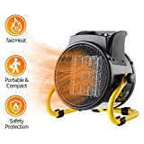 PROWARM Fan Forced Ceramic Portable Electric Heater with Adjustable Thermostat 20/750/1500W