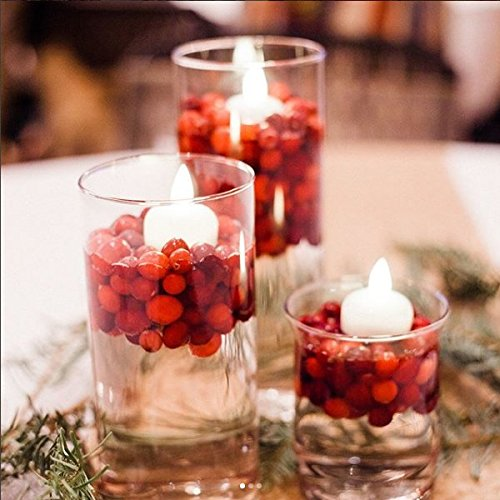 IMAGE Flickering Flameless Floating LED Candles 12PCS Smokeless Waterproof Floating LED Tealights Candles Wedding Party Spa Home Indoor Outdoor Decor-Cool White by IMAGE (Image #2)