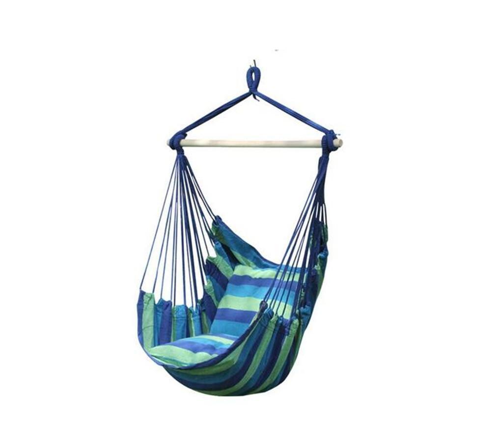 XIAOMEIXI Portable Single Fabric Hanging Stuhl mit Free Tree Straps Park Swing für Reise Camping, Bunte Streifen