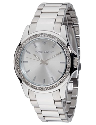 Yves Camani Montpellier Women's Wrist Watch Quartz Analog Stainless Steel Silver Dial