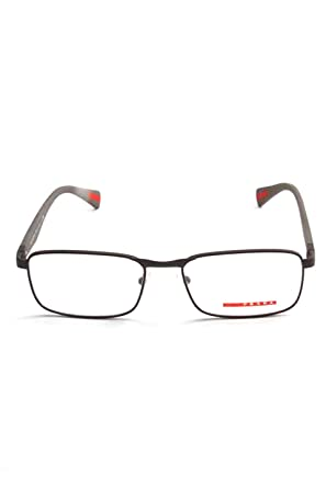 b3f4617796d10 PRADA SPORT PS 51GV Eyeglasses UAE1O1 Brown Rubber 54-17-140  Amazon ...