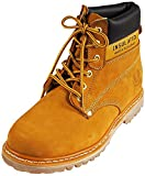 KINGSHOW Mens Water Resistant Snow Work Boot, Wheat 38540-8D(M) US