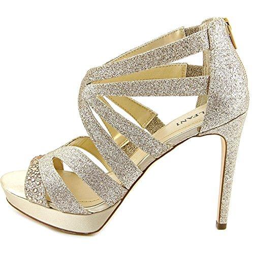 l Open Toe Special Occasion Strappy, Champagne, Size 8.5 (Alfani Open Toe Heels)