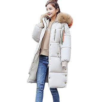 Oyedens Damen Winter Mantel Steppmantel Moonshine Damen Jacke Lange Dicke Warme Daunenjacke Parka Mäntel Winterjacke Daunenmantel Lange Reißverschluss