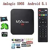E&Tree MXQ PRO Android 6.0 TV Box, Internet 1080p HD WiFi Streaming Video Player ,Ultra HD 4K, Amlogic S905X Quad Core TV Box- (MXQ 1GB RAM,8GB ROM)