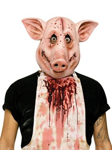 Fun World Unisex-Adult's Psycho Pig Mask, Multi, Standard]()