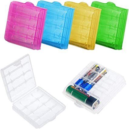 DELSEN 6 Piezas Caja Batería Plástico para AA/AAA Baterías ...