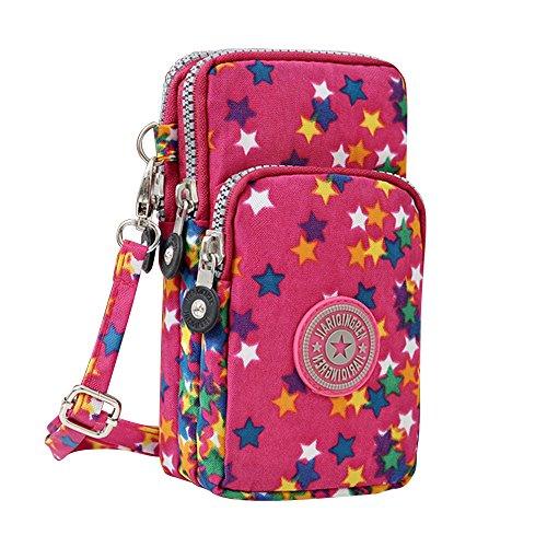 Pentagram Multifunction Wristlet Bag Crossbody Mini Purse Phone Cell Handbags New Rose Wocharm POqw56ZZ