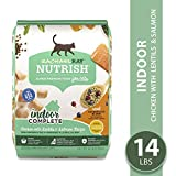 Rachael Ray Nutrish Premium Natural Dry Cat Food, Indoor Complete Chicken with Lentils & Salmon Recipe, 14 Lbs