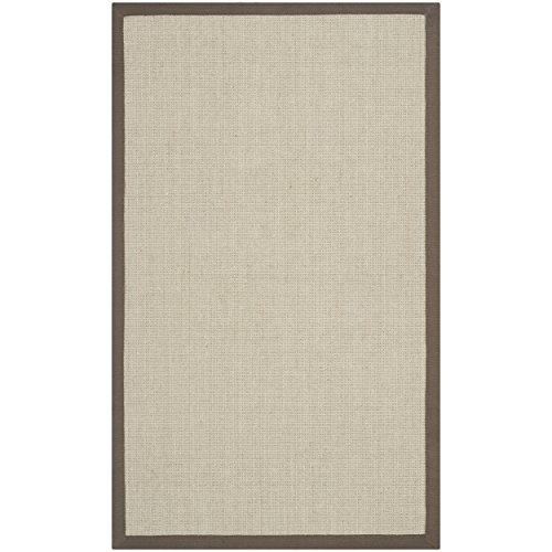 Safavieh Natural Fiber Collection NF441F Hand Woven Taupe and Light Brown Sisal Area Rug (2