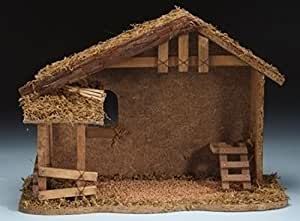 Fontanini 5 Wooden Christmas Nativity Stable 54628 Home Kitchen