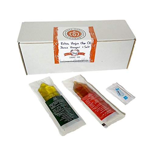 Single Serve Variety Pack Extra Virgin Olive Oil, Vinegar, Salt Salad Dressing