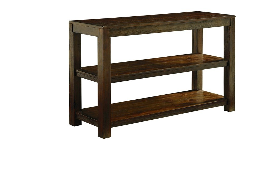 Ashley Furniture Signature Design - Grinlyn Sofa Table - 2 Fixed Shelves - Vintage Casual - Rustic Brown