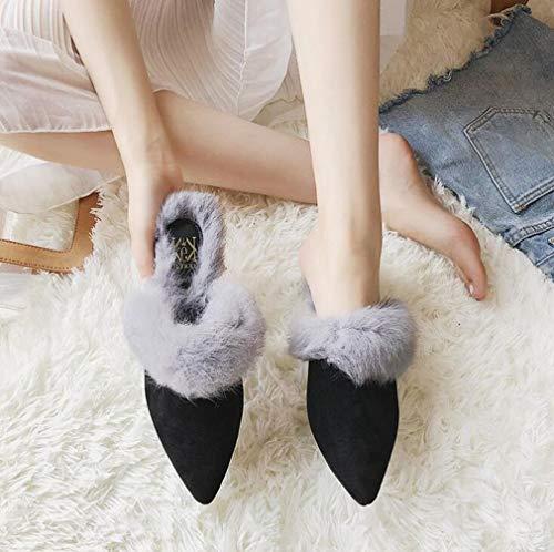 Zapatillas Nuevas De Con Noche Caminar Moda Zapatos Para Hy tacón Aguja Alto Tacón Mujer Oficina Casuales Y Otoño Gris Bodas Fiesta w5tIxxq0