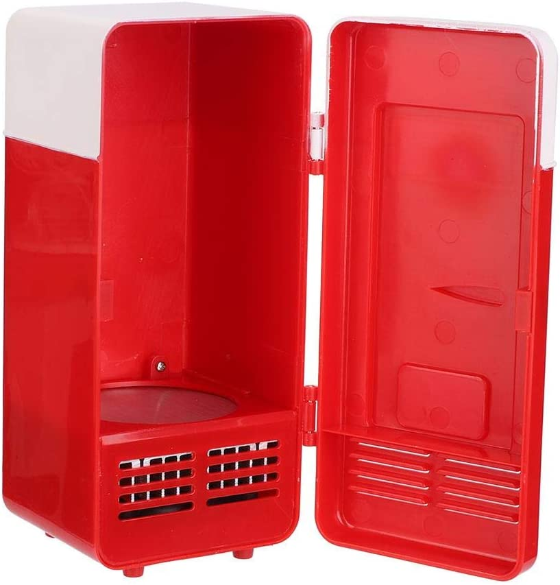 Heizung und K/ühlung rot Asixx Mini tragbarer kompakter pers/önlicher K/ühlschrank tragbarer K/ühlschrank mit doppeltem Verwendungszweck und DC//USB-Stromversorgung f/ür das Home Office