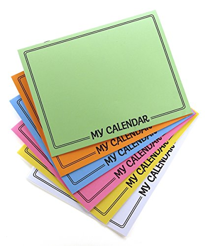 Hygloss Make Your Own Calendar Book, 8.5 x 11-Inch, 12 Gridded Months, 1 Pc